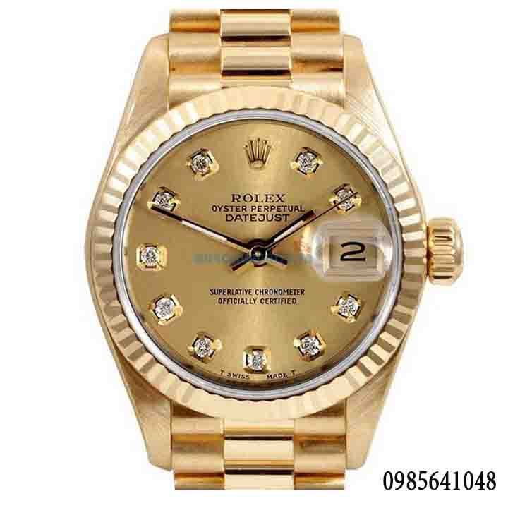 Đồng hồ nam cao cấp Rolex full gold automatic RL07